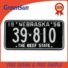 Quality designer license plate for bmw