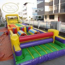 Durable 0.55mm PVC Playground Inflatable Sports Games Custom Cheap Adult Giant Inflatable Race Run Obstacle Course For Sale
