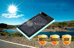2015 New Products Solar Charger solar power bank 5000 mAh waterproof /shockproof / led light