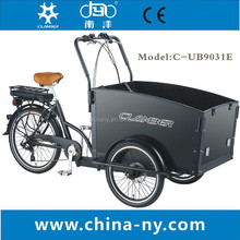 adult electric cargo tricycle china/3 wheel cargo bike/Box cargo bike for baby
