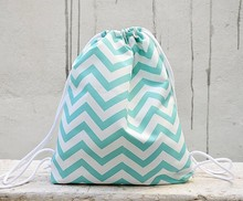 Chevron Small Backpack, Triangle Backpack, Gym Bag, Lined Drawstring Bag, Drawstring Backpack, Waterproof Fabric Backpack