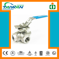 Taiwan High quality manufacturer water 3 way ball valve, pn40 flange ball valve, handle ball valve