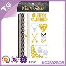 Gold Chains Tattoo,Circle Tattoo Stickers,Hand Jewelry Tattoo Sticker