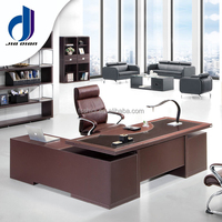 Modern wooden office table/tempered glass top office executive desk(F-20)