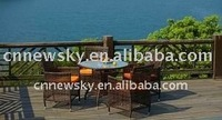 PE wicker 2-seater sofa rattan home furniture