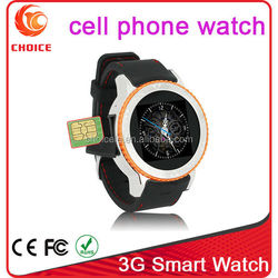 Waterproof mtk6260a watch phone 3g not dual sim watch phone with camera