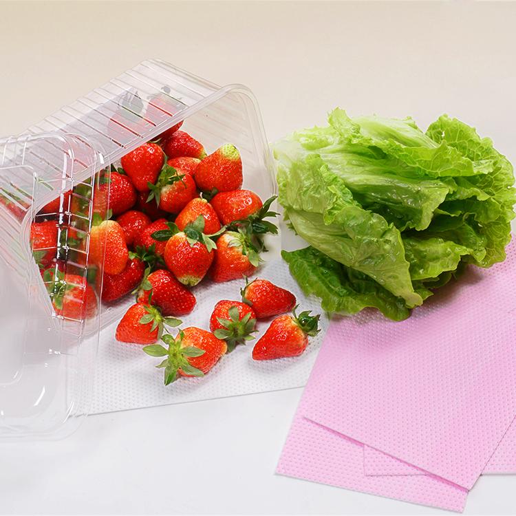 Almofada absorvente de alimentos para a umidade da água sem ficar confuso, airlaid soaker pad para embalagem de alimentos