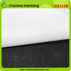 HDPE coated 100% cotton adhesive interlining fabris for collar shirt collar interlining