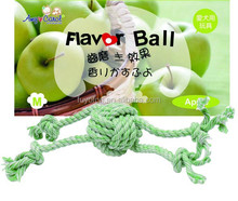 Amy carol cotton pet products apple flavor rope toys for dog