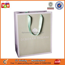 Luxury wholesale custom paper shopping bag