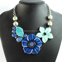 fashion styles hand painted flower necklace choker jewelry
