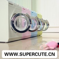 Multifuntional ABS Four colors washing machine shape toilet paper holder&plastic money box