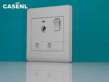15A New design silver color industric electric socket with switch and neon
