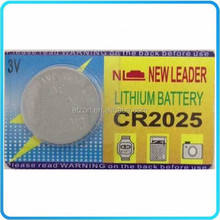 Button Cell CR2025 Battery , 3V Button Battery ,Lithium Ion Button Battery CR2025 3v 165mah
