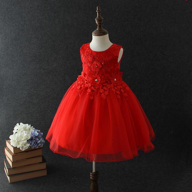 2018 Baby Girl Party Dress Children Frocks Designs Vietnam Red ...
