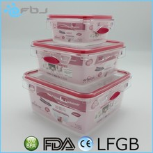 Set 3 Plastic Food Storage Containers