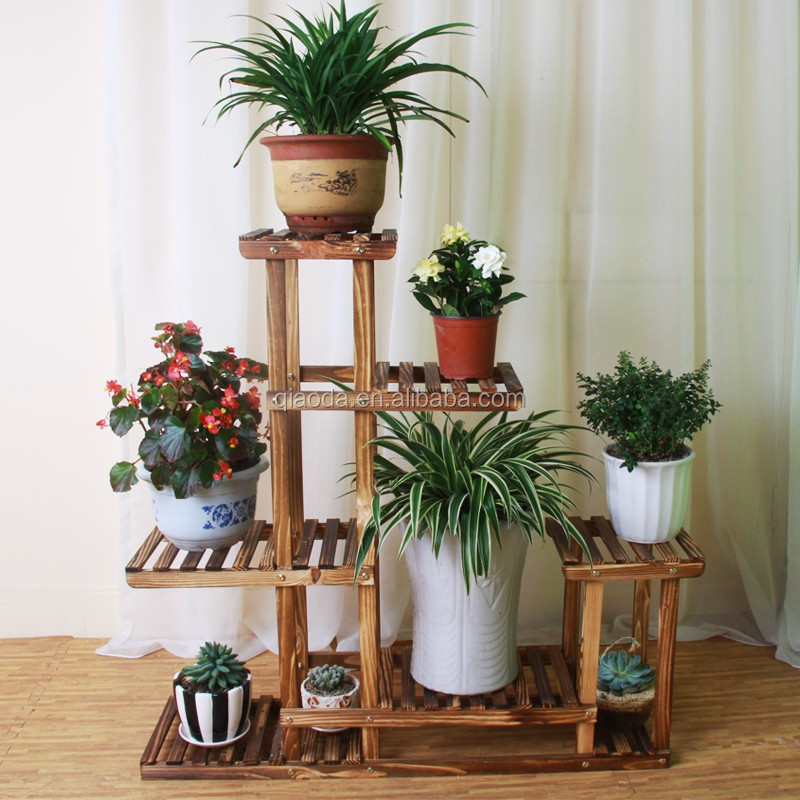 Wood Flower Stand Designs : Wooden plant flower stand designs for outdoor decoration