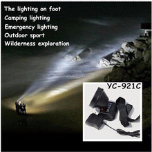 INTRY White yellow blue night fishing outdoor hunting outdoor light charging head lamp YC-921C