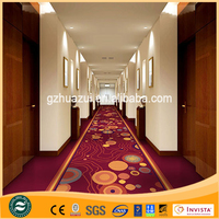 Manufactured Printed Solution Dyed Hotel Used Red Nylon Carpet
