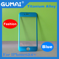 titanium blue tempered glass screen protector for iphone 6 with high clear