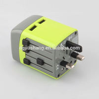 Factory supply universal Charger with UK/AU/EU/US Plug ,Travel Charger 5V2500MA plug USB Charger for iphone/ipad charging