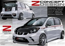 Perodua Myvi Z Concept Design car Body kit