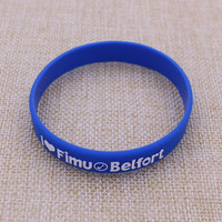 Custom adjustable silicone wristband / embossed silicone wristband for sale