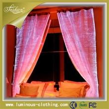 High quality fashion fiber optical luminous unique window curtains