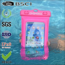 diving smartphone waterproof bag/floating diving waterproof bag/low price mobile phone waterproof floating bag