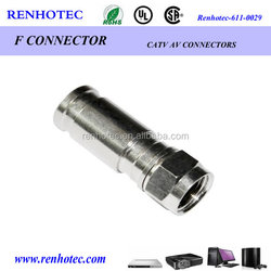straight RF cable RG6 RG11 connector F type male connector