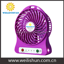4.5W ABS with LED Light New USB Rechargeable Cool Mini Portable Fan