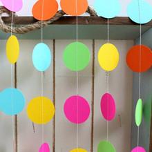 HOT SALE Rainbow coloured paper circle garland baby shower garland
