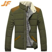 Western fashion standing collar winter quilted jacket for young men