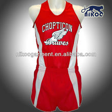 NIKOO custom sublimated mesh running uniform for league game