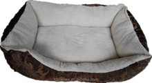2015 100% polyester brown square dog bed