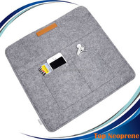Felt 15-15.6 inch Ultabook Netbook Envelope Case Laptop Sleeve with Small Card Slot for Adapter Mouse Cards
