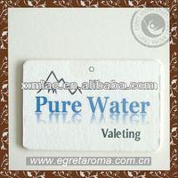 pure water white hanging paper car freshener