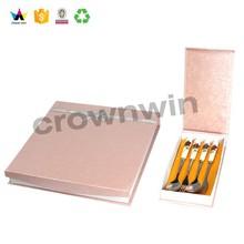 Privadas diseño personalizado embalaje de cartón cuchillo y tenedor cajas