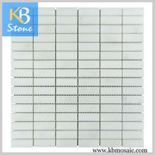 New design marble mosaic tiles white amber stone