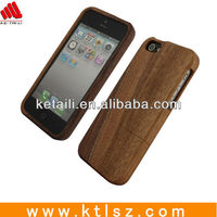 Factory Wholesale case mobile wood mobile phone holder for iphone 5/6 walnut for iphone 4 case