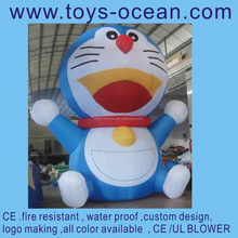 Inflatable giant blue cat cartoon for display /inflatable japan cartoon lovely/advertising inflatables for promotion