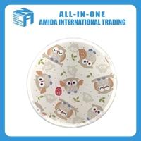 2015 top quality Japanese style lovely owl pattern multicolor round nylon folding fan