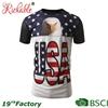 BSCI Custom Silk Screen Printed Logo Men's USA Cotton Mesh T shirt
