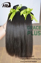 "8-30"" tangle free peruvian virgin hair silk straight hair weft"