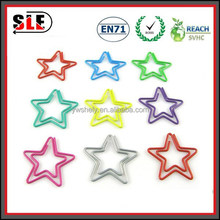 custom star shaped christmas paper clips with mixed colour
