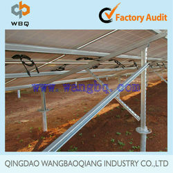 hot sale ground mounting structure for solar energy system