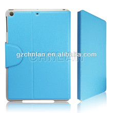 Smart sleep and wake up leather flip cover for ipad air