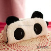 Fashion Cute Panda Pencil Case Students Multifunction Plush Pen Bags