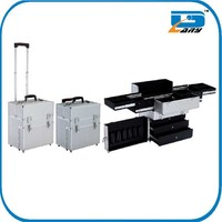 Aluminum trolley hairdressing beauty case