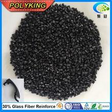 Reinforced PA6 material plastic pellets black PA6 GF15